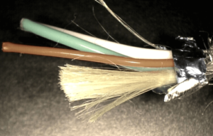 Figure 2 - Kevlar Cable Relieves Stress on Copper Wires